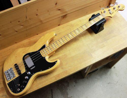 茅ヶ崎市のお客様より中古エレキベース「Fender Japan JB77-MM Marcus Miller Natural」を買取させて頂きました。